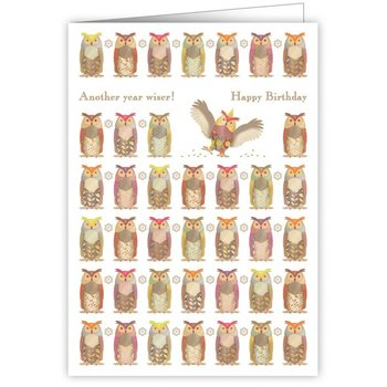 Greeting Card - Another Year Wiser - Happy Birthday