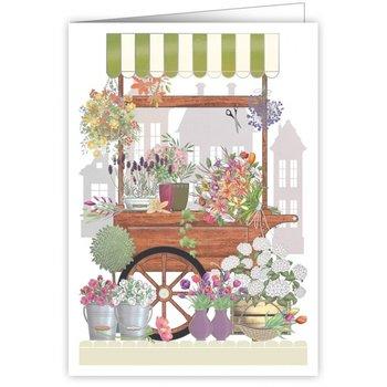 Greeting Card - Flower Cart