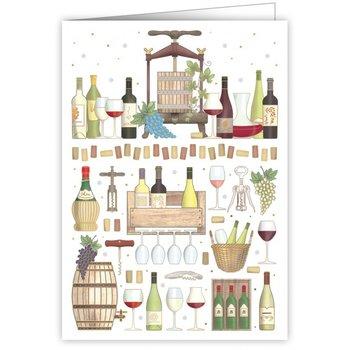 Greeting Card - Wine