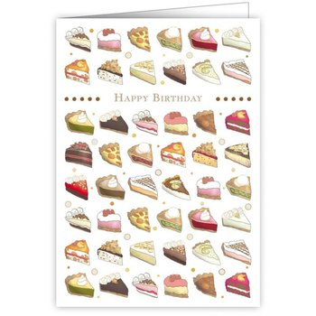 Greeting Card - Happy Birthday Pieces of Pie