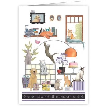 Greeting Card - Happy Birthday Pets