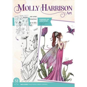 Molly Harrison Poppies of Amethyst Clear Stamps