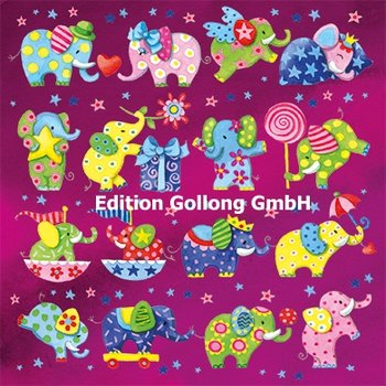 Nina Chen Postcard | Colourful Elephants