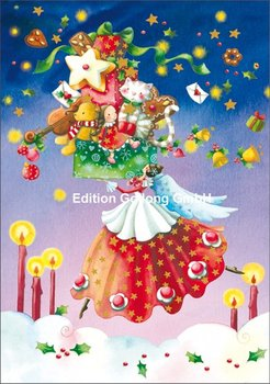 Nina Chen Double Card   Angel with gifts