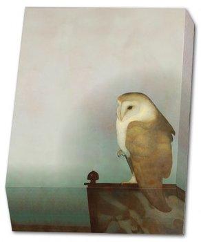 Memo blocnote: Grote uil op scherm, Jan Mankes, Museum More