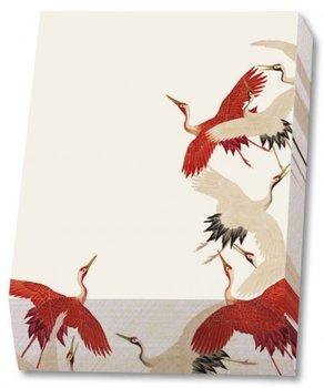 Memo blocnote: Woman haori with Red and White Cranes, Collection Rijksmuseum