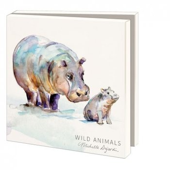 Card folder with envelopes - square: Wild animals, Michelle Dujardin