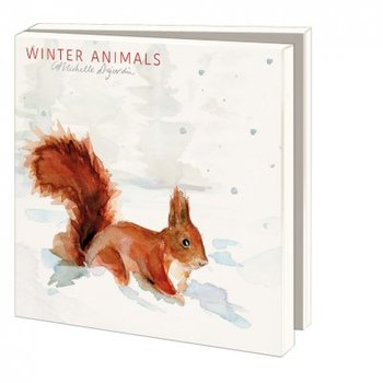 Card folder with envelopes - square: Winter Animals, Michelle Dujardin