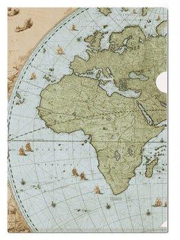 A4 Plastic File Folder: Wandkaart van de wereld door Joan Blaeu, Het Scheepvaartmuseum