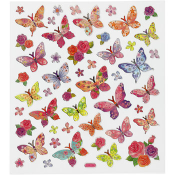 Seal Sticker with Silver Foil | Butterflies