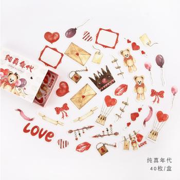 Sticker Flakes Box | Cute Love Bear