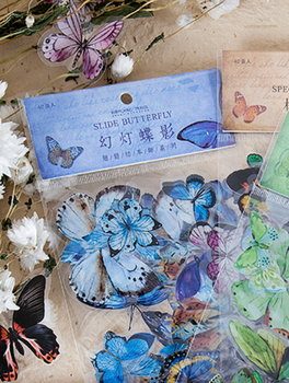 Sticker Flakes | Slide Butterfly