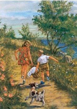 Postcard | Vintage Swedish Holiday Poster