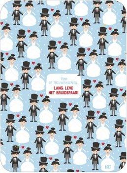 Lali Riddle Search Postcard | lang leve het bruidspaar