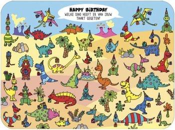 Lali Riddle Search Postcard | Welke dino heeft er van de taart gegeten?