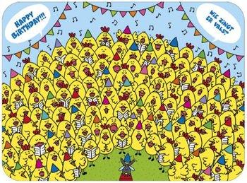 Lali Riddle Search Postcard | Wie zingt er vals?