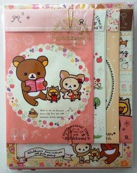 San-X Rilakkuma Letter Set - Happy Natural Time