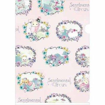 San-X Sentimental Circus A4 Plastic File Folder