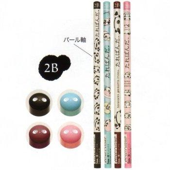 San-X Tarepanda 2B Lead Pencils: 4-Piece Set