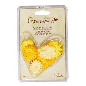 Papermania Petals (30pcs) - Capsule - Lemon Sorbet