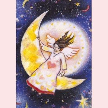 Postcard Geertje van der Zijpp | Angel of the Moon