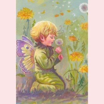 Postcard Fantasy Judy Mastrangelo | Dandeleon elf