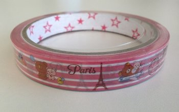 Rilakkuma Medium Decotape | Relaxkuma in Paris