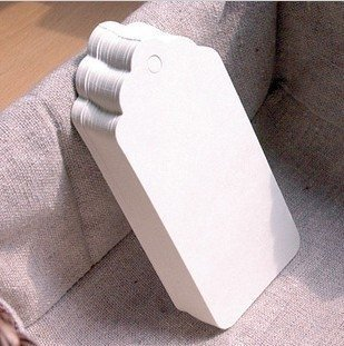 Gift Tag | White Kraft Paper