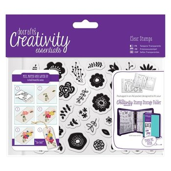 A6 Clear Stamp Set (40pcs) - Folk Floral