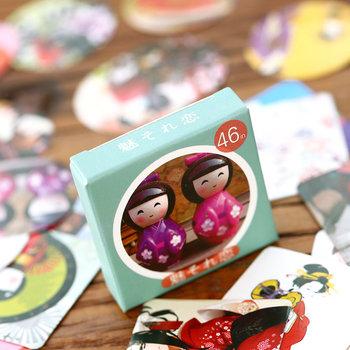 Sticker Flakes Box | Russian Doll Matryoskha