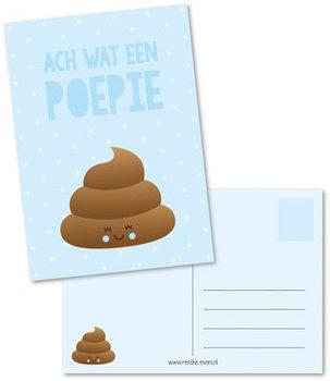 Postcard Renske Evers | Wat een poepie blauw