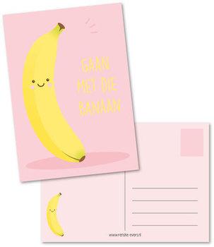 Postcard Renske Evers | Gaan met die banaan