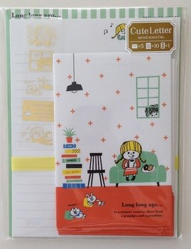 Mind Wave Kawaii Letter Set | Long long ago orange