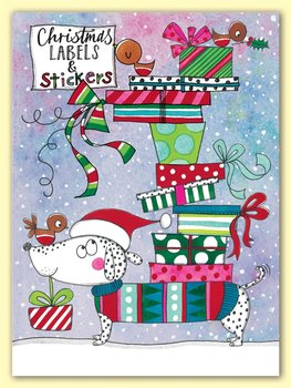 Rachel Ellen Designs - Sausage Dog and Presents - Christmas Labels and Stickers