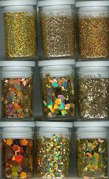 Glitter & Confetti Set | Gold
