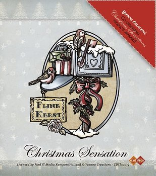 Yvonne Creations Clear Stamp - Christmas Sensation - Kerstbrievenbus