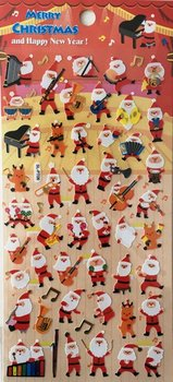 Merry Christmas Seal Sticker | Red Santa Piano