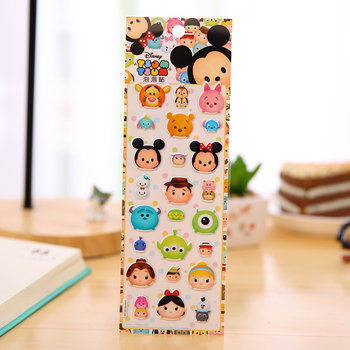 Kawaii Puffy Epoxy Stickers | Disney Tsum Tsum