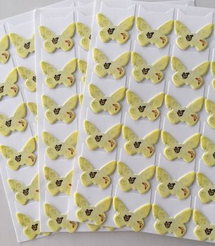 Butterfly Shaped Photo Corner Stickers | Yellow with Butterfly