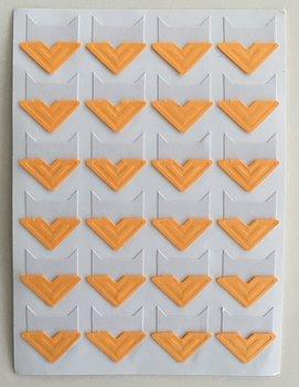Photo Corner Stickers | Light Orange