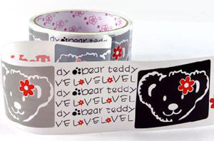 Large Adhesive PVC Decotape | Teddy Bear