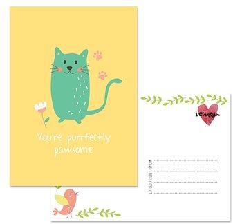 Postcard LittleLeftyLou | Cute Animals - Cat