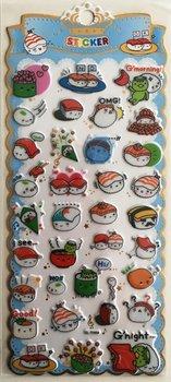 Puffy Epoxy Stickers | Kawaii Sushi