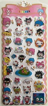 Puffy Epoxy Stickers | Funny Sanrio Characters