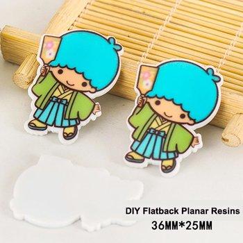 Flatbacks Planar Resin Charms | Little Twin Stars Kiki Kimono Fan