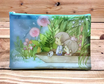 Amy and Tim Clear Zipper Bag (A6)