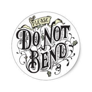 Do Not Bend Circle Sealing Stamp Stickers