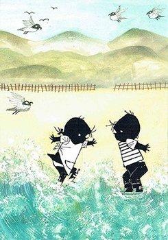 Fiep Westendorp Postcards | Jip en Janneke in de zee