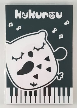 Medium Black and White Memopad | Kukurou Owl