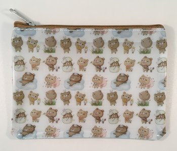 Honey Bear Small Clear Zipper Bag